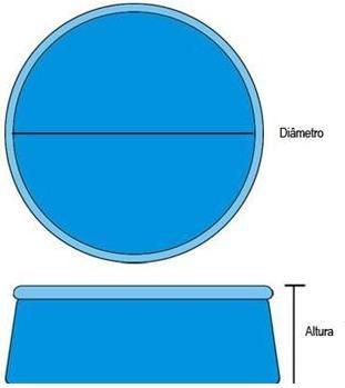 piscina inflável crx 2377 litros standard 244 cm x 66 cm
