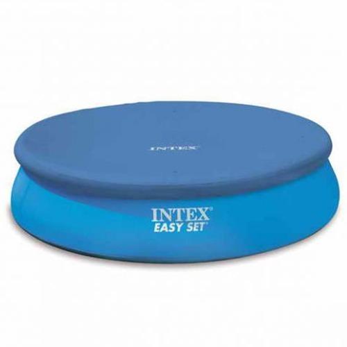 piscina inflável easy set 2.419 litros + filtro + capa intex