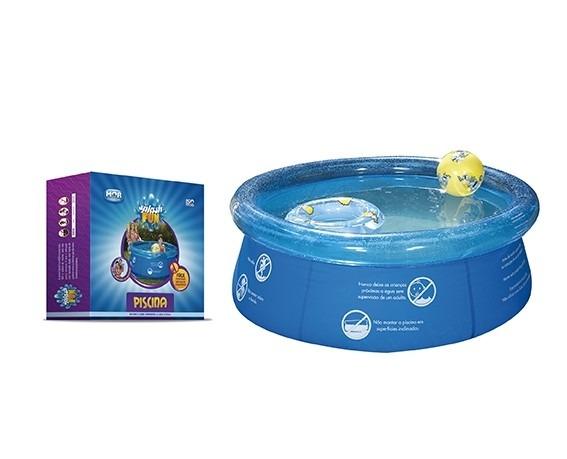 Piscina infl vel infantil 1000 litros lona pvc redonda mor for Lona piscina redonda