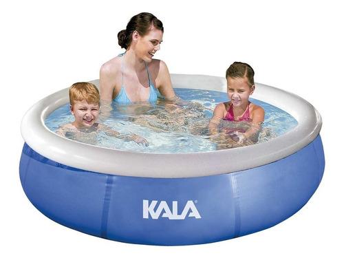 piscina inflável infantil 1000l 726591 kala + bomba + forro