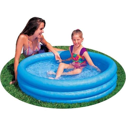 piscina inflável infantil 3 anéis intex #59416