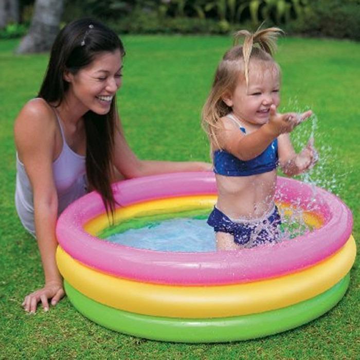 Piscina infl vel infantil 68 litros redonda beb intex for Piscinas bebes