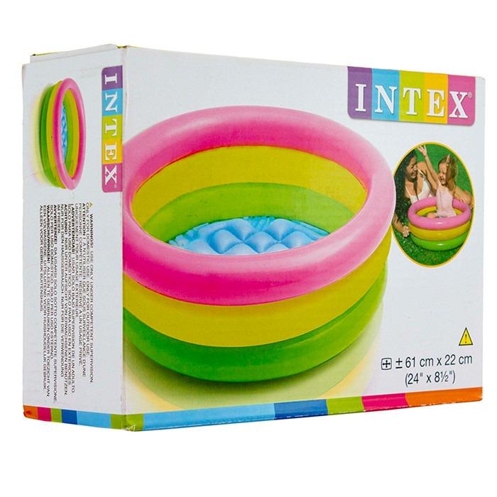 Piscina infl vel infantil 68 litros redonda beb intex for Piscina infantil 2 mil litros