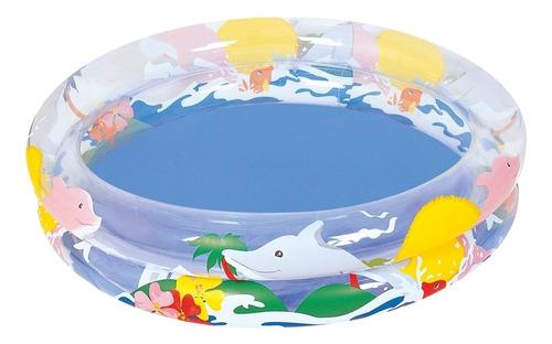 piscina inflável infantil 74 litros vida no mar belfix