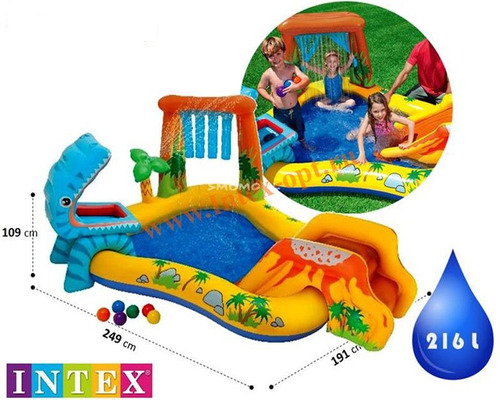 piscina inflavel infantil playcenter dinossauros intex