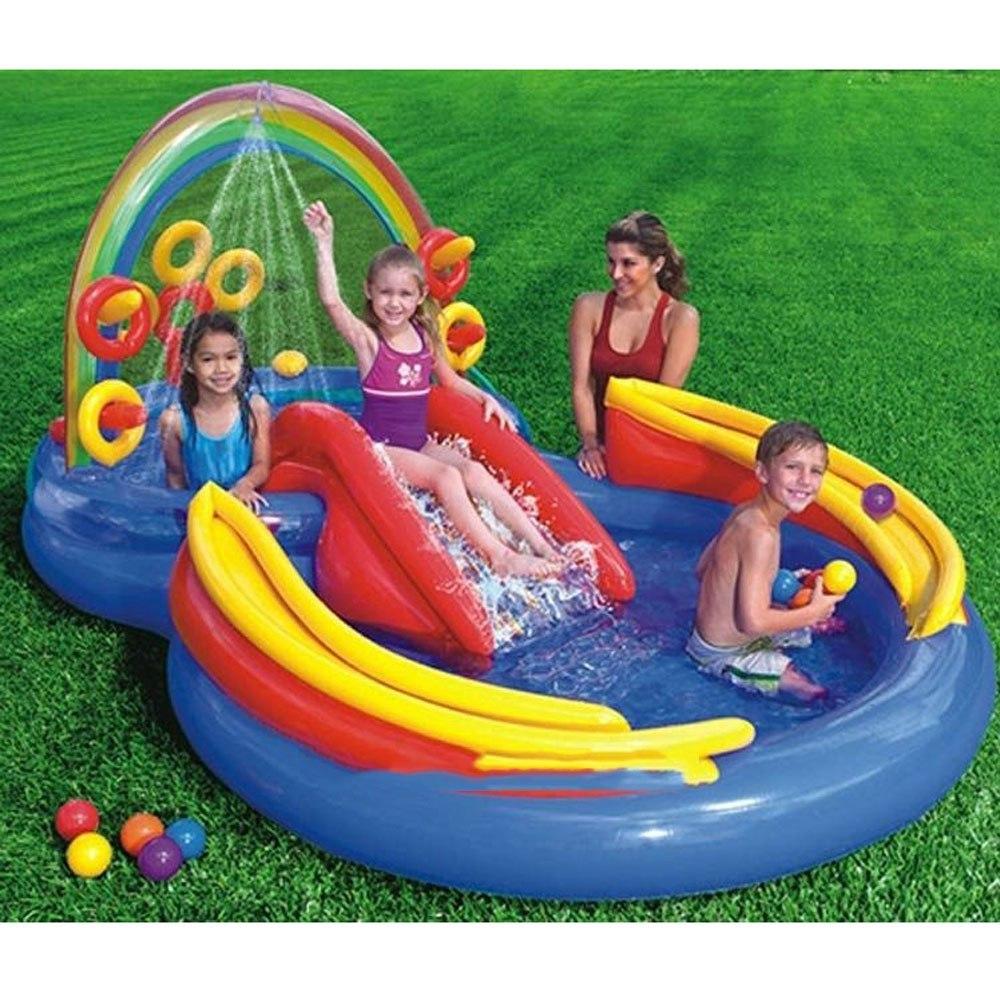 Piscina infl vel infantil playground arco ris 246 lts for Piscinas bebes