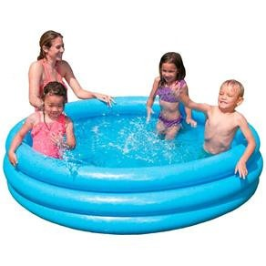 Piscina inflavel intex 500 litros azul redonda r for Alberca intex redonda