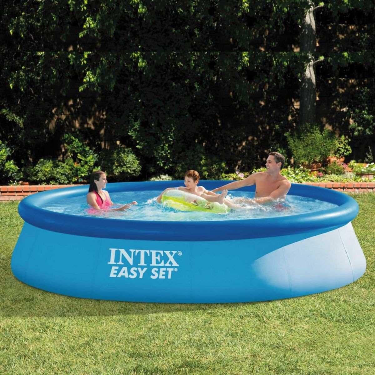 Piscina infl vel intex litros filtro capa bomba for Filtro para piscina intex