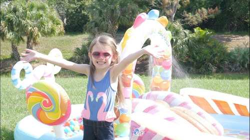 piscina inflável intex playcenter candy zone 374 litros