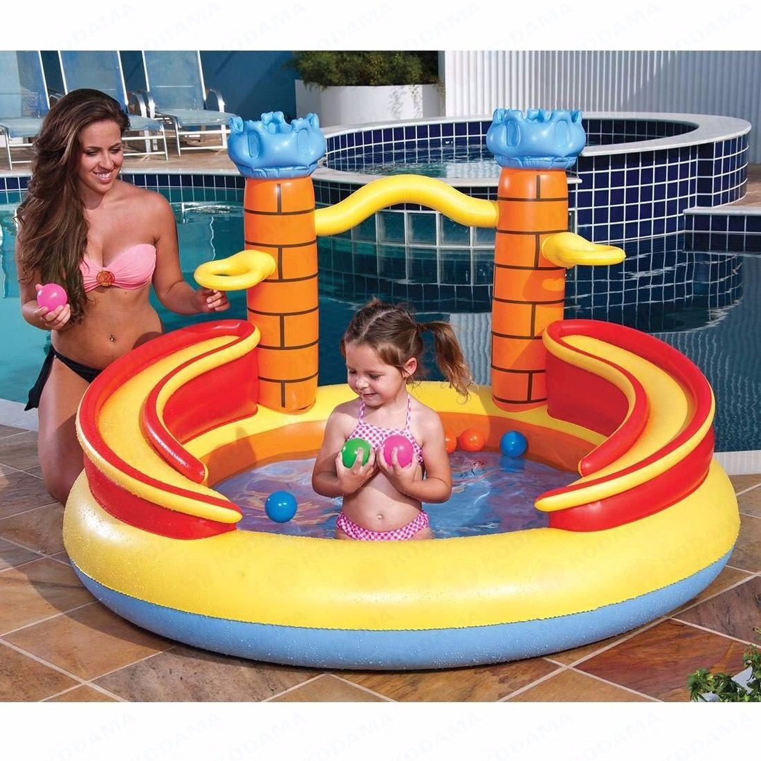 Piscina Infl Vel Playground Banheira Castelo 170 Litros
