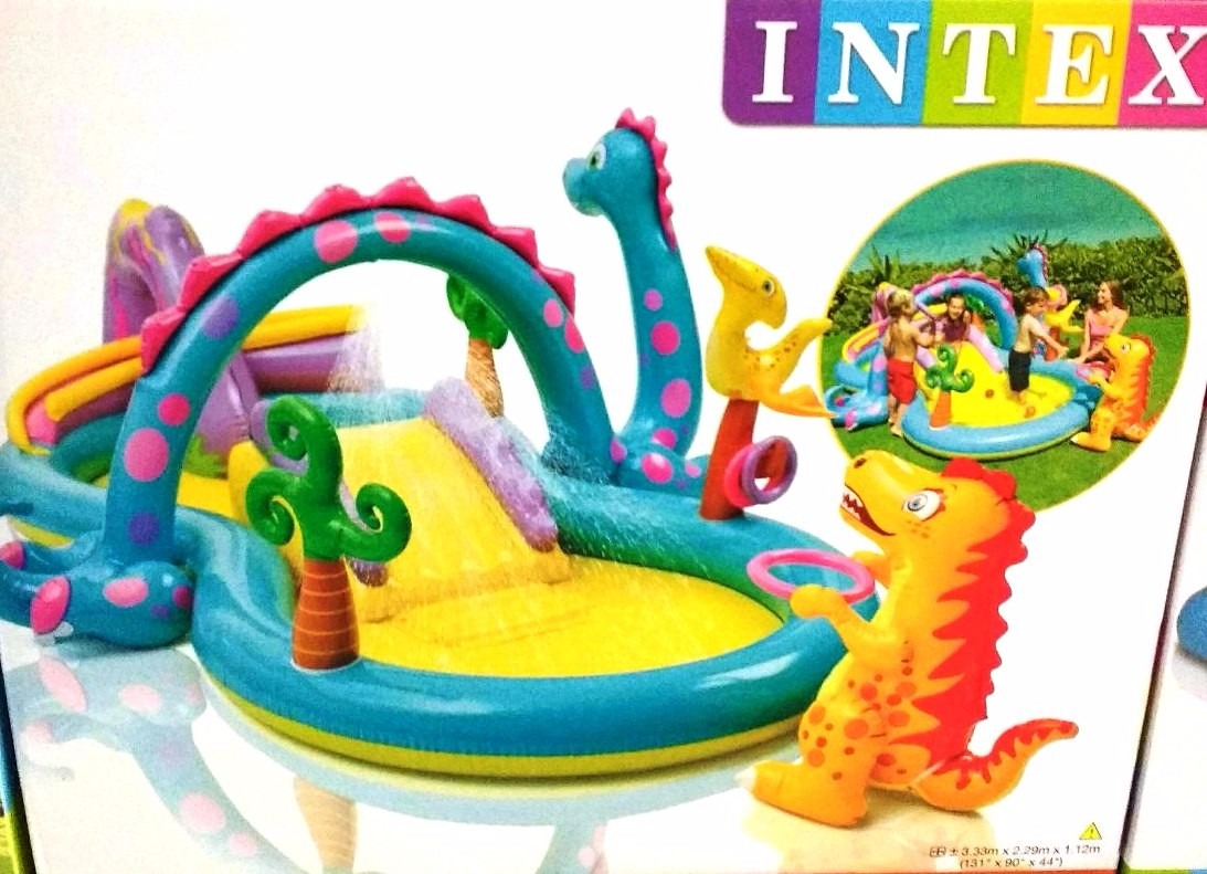 Piscina infl vel playground dinossauros intex r 299 00 for Piscina 29 de abril telefono