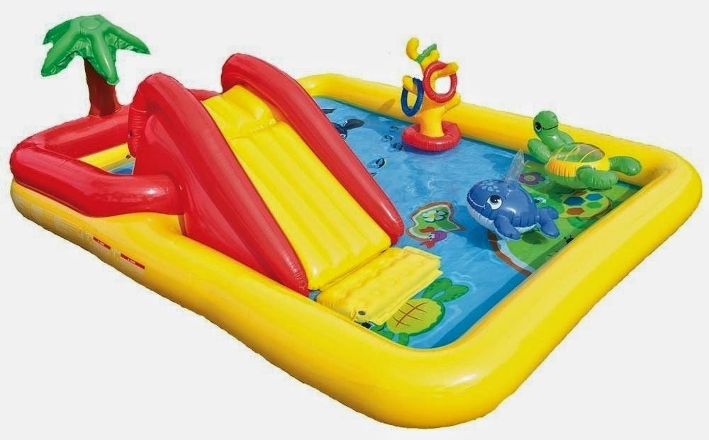 Piscina infl vel playground oceano c escorregador intex for Piscinas toy