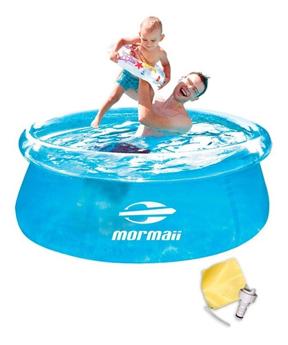 piscina inflável redonda 1400 litros 183 x 63 cm mormaii