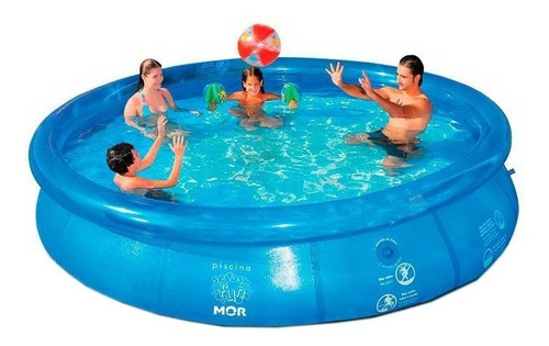 piscina inflável redonda 4600 litros splash fun mor