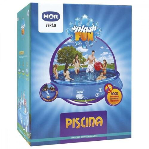 piscina inflável redonda splash fun 12000 litros mor 1057