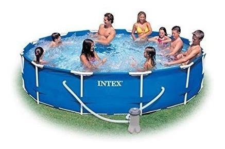 piscina intex 12 pies x 30 pulg. estruc metal + bomba filtro