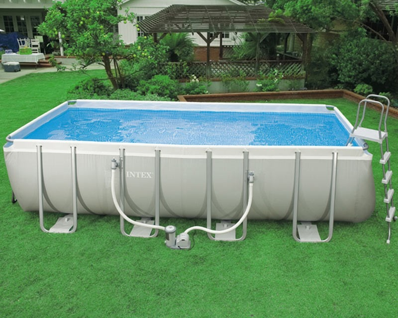 Piscina intex 17203 litros completa bomba filtro capa for Intex pool 150 cm tief