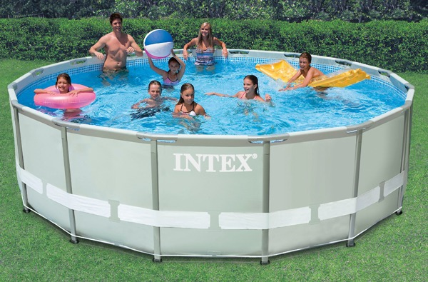 Piscina intex 19156 l completa bomba filtro capa escada for Filtro piscina intex