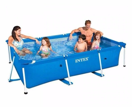 piscina intex 28270 rectangular 220x150x60cm frame tubular