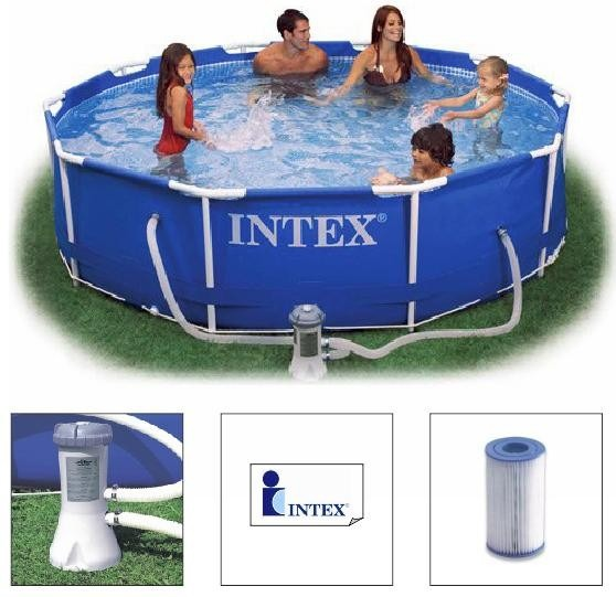 Piscina intex 4485 litros estrutural bomba filtrante for Filtro piscina intex