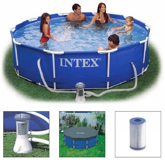 Piscina intex 4485 litros estrutural bomba filtro 220v for Filtro piscina intex
