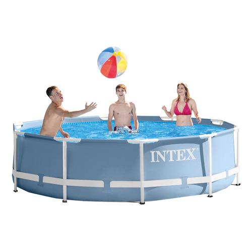 piscina intex 6503 litros estrutural armação metal ferro