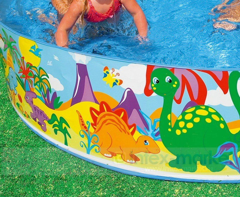 Piscina intex familiar armable 244x46cm ni os ni as for Alberca familiar intex