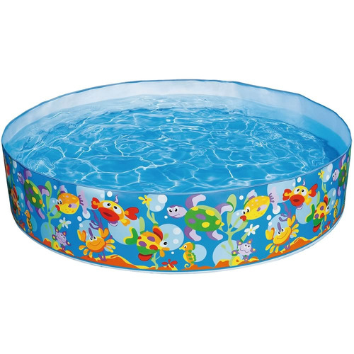 Piscina intex familiar redonda 977lts vinil r gido jardim for Alberca intex redonda