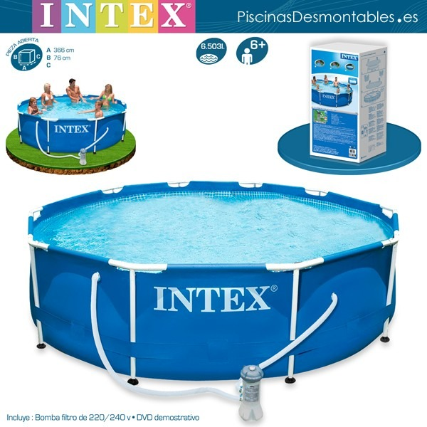piscina intex y ecology de 3 x 0 76 bs en