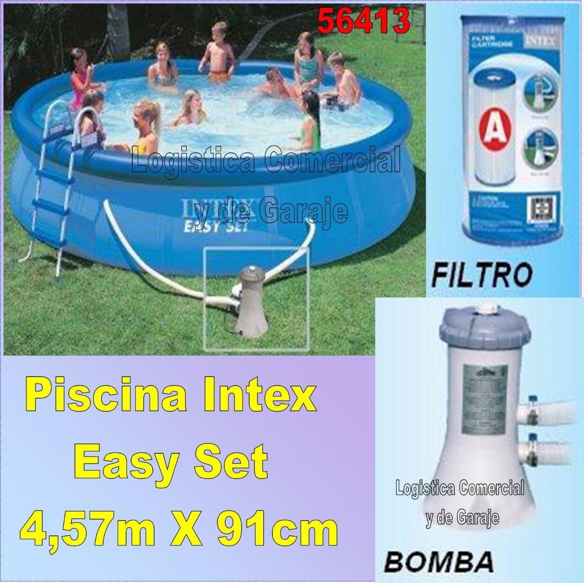 Piscina intex bestway 457x91cm bomba filtrante for X treme bombas piscinas