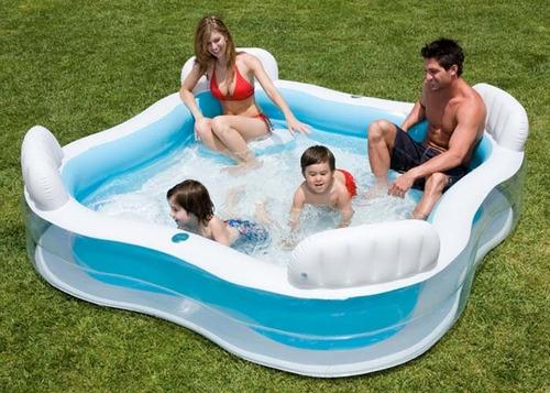 piscina jacuzzi intex inflable 4 sillas 56475 familia niños