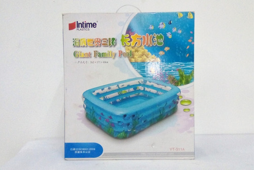 piscina mediana inflable intime 262x175x60cm