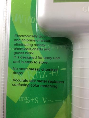 piscina medidor cl2 cloro e ph 2x1 teste da água aquario spa