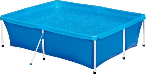piscina mor 2000 litros retangular com válvula de deságue
