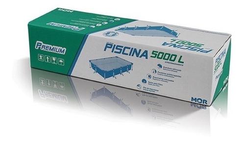 piscina mor premium retangular 5000 l lona pvc saída filtro