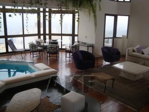 piscina no apartamento, lareira, jardim. - v-1495