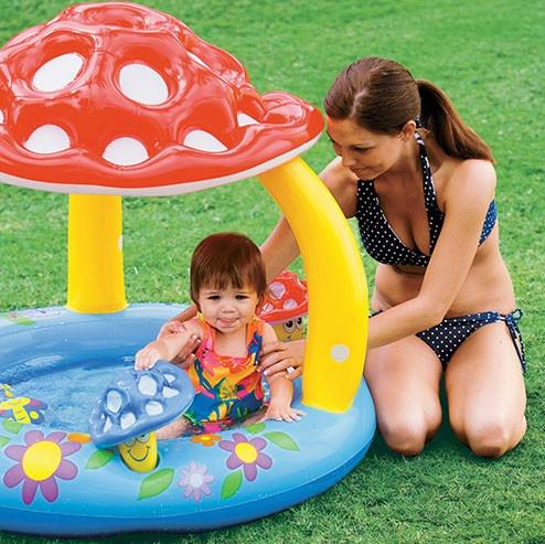 Piscina para bebes inflavel com cobertura do sol r 197 00 em mercado livre - Piscinas para bebes ...