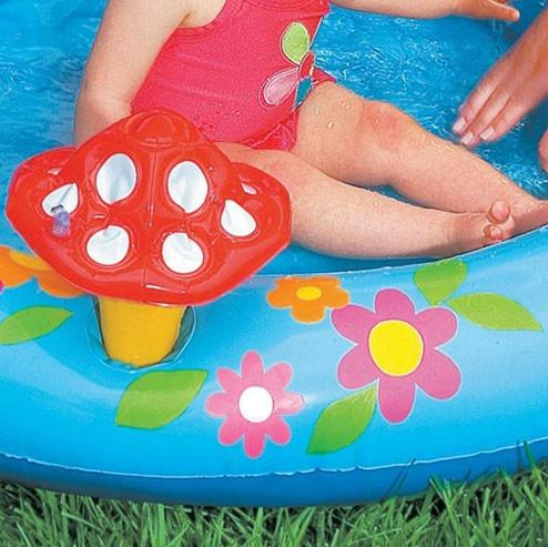 Piscina para bebes inflavel com cobertura do sol r 126 for Piscinas bebes
