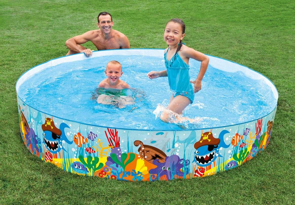 Piscina para toda a familia intex n o precisa inflar r 120 00 em mercado livre - Piscina plastica rigida ...