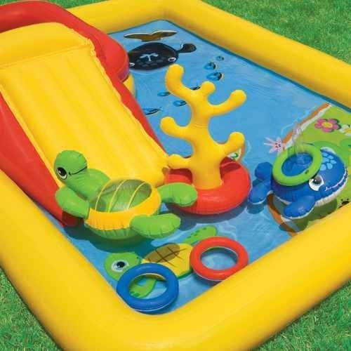 piscina playcenter oceano 458l c/ escorregador 7538-7 intex!