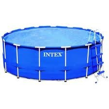 piscina portatil intex de 4.88 x1.22 incluye bomba y gradas