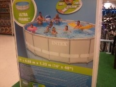 2a29b458801fb Piscina Portatil Intex De 588 X1.22 Con Bomba