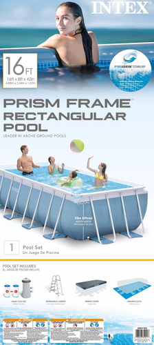 piscina rectangular completa 488x244x107cm c/envío y regalo
