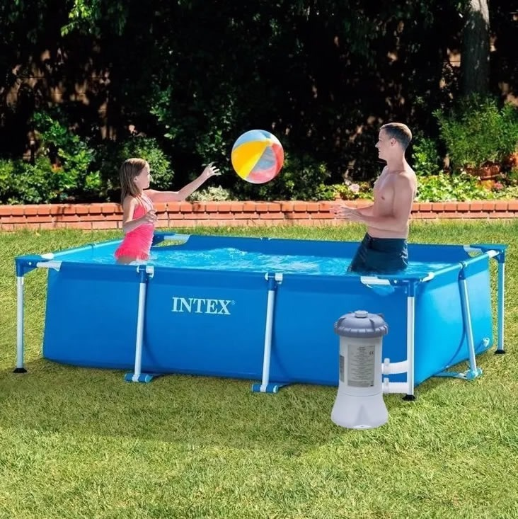 Piscina rectangular intex 3 x 2 x bomba y filtro for Donde venden piscinas estructurales