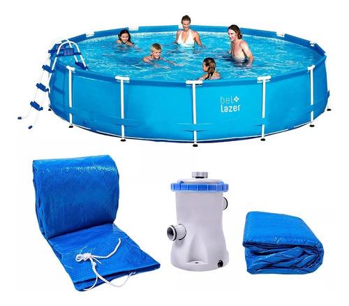 piscina redonda 13000l com kit belfix 220v belfix - 511300