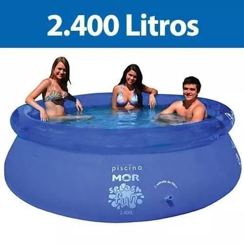 Piscina redonda litros inflavel splash fun mor r for Piscina redonda grande