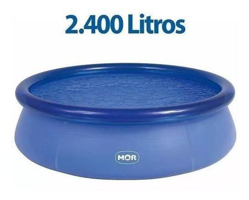 piscina redonda 2400l inflavel 2400 litros 2,40 x 0,63 mor