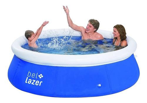 piscina redonda 2500 litros com kit reparo 100100 belfix