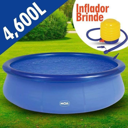 piscina redonda 4.600 litros inflavel splash fun + inflador