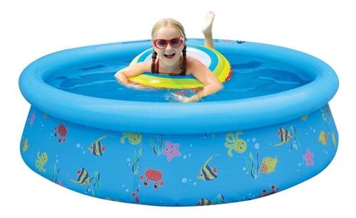 piscina redonda infantil inflável divertida 500 lts belfix